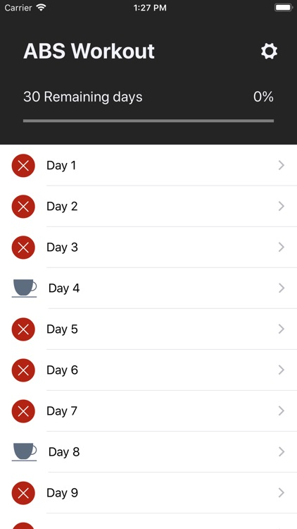 ABS Workout - 6 pack 30 days screenshot-3
