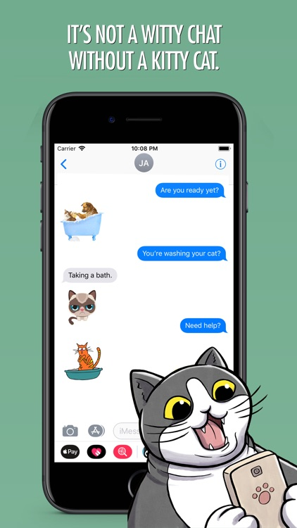 Cats Animated Text Stickers screenshot-4