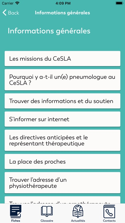 CeSLApp: Infos patients CeSLA