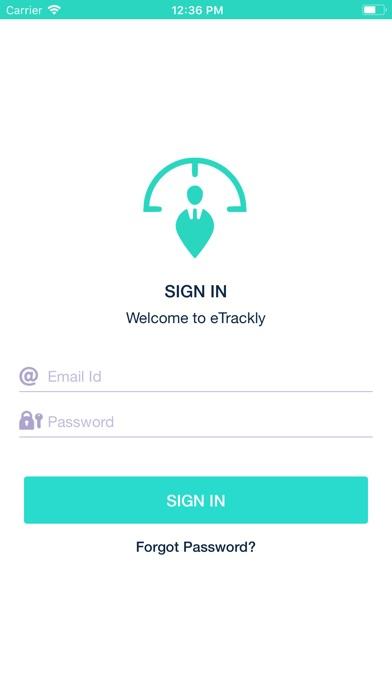 Screenshot of eTrackly App