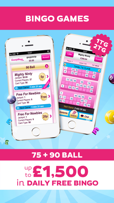 Gossip Bingo - UK Online Bingo screenshot two