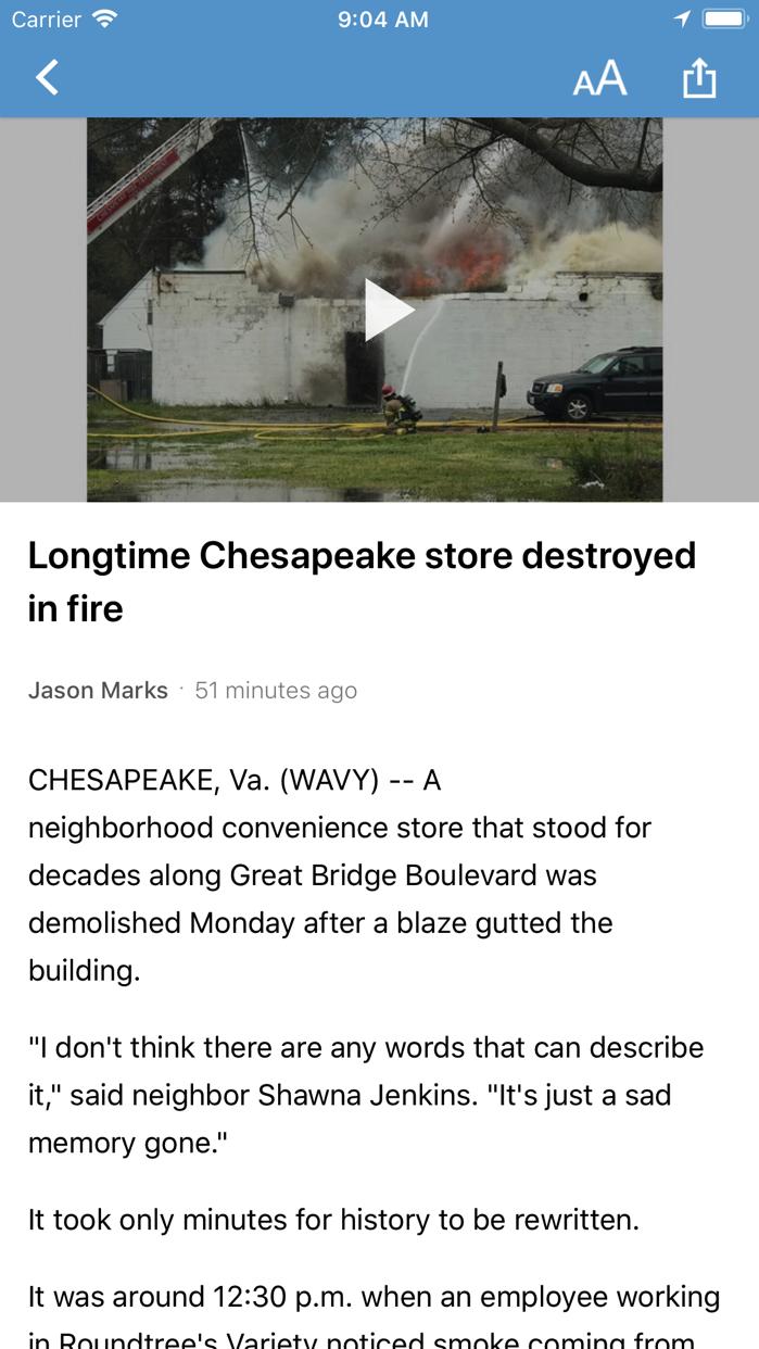 WAVY TV 10 - Norfolk, VA News Screenshot