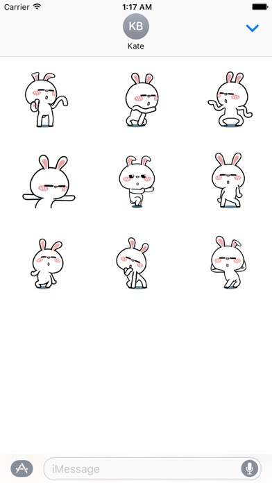 Animated Happy Rabbit Sticker screenshot 2