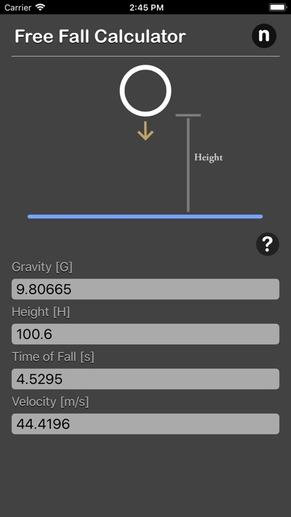 Free Fall Calculator screenshot-3