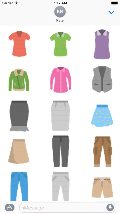 Clothes And Shoes Icon Sticker screenshot 2