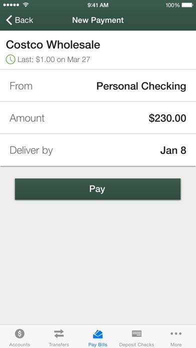 NEFCU Mobile App iPhone