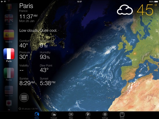 screenshot 2 for 3d earth weather widget