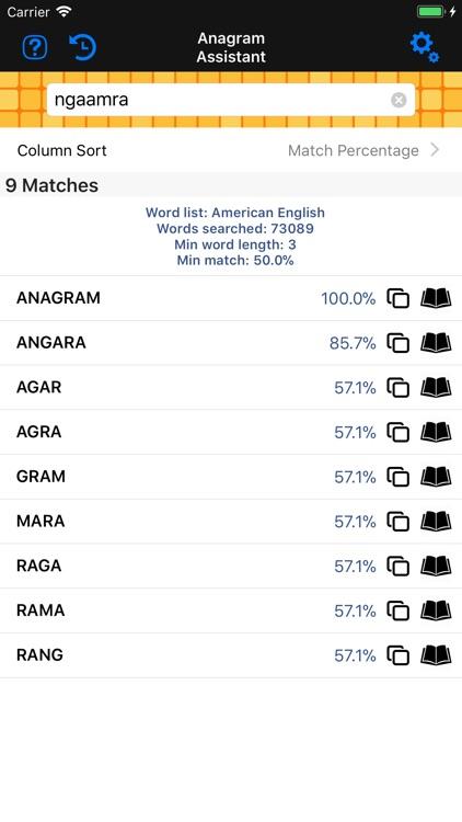 Anagram & Crossword Assistant