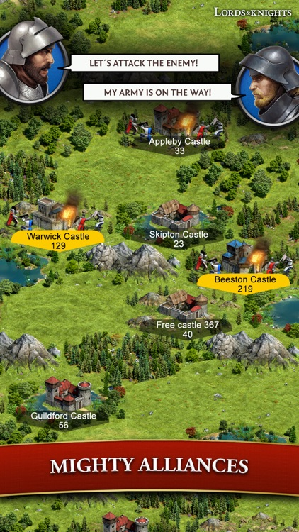 Lords & Knights - Medieval MMO screenshot-3