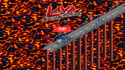Lava Car Racing Challenge screenshot two