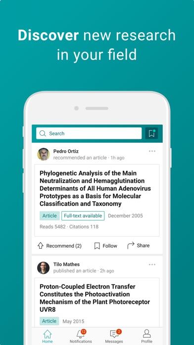 Screenshot for ResearchGate in Lebanon App Store
