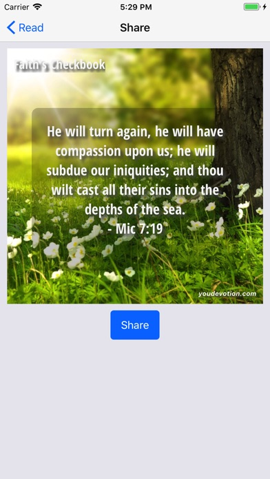 Screenshot for Daily Faith's Checkbook in United States App Store