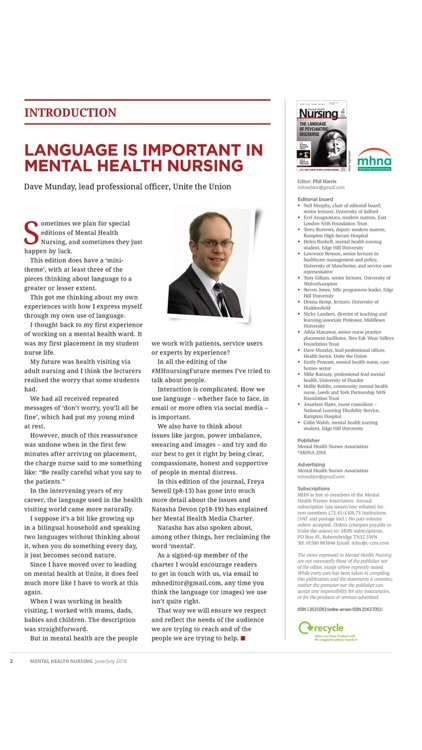 Mental Health Nursing Journal