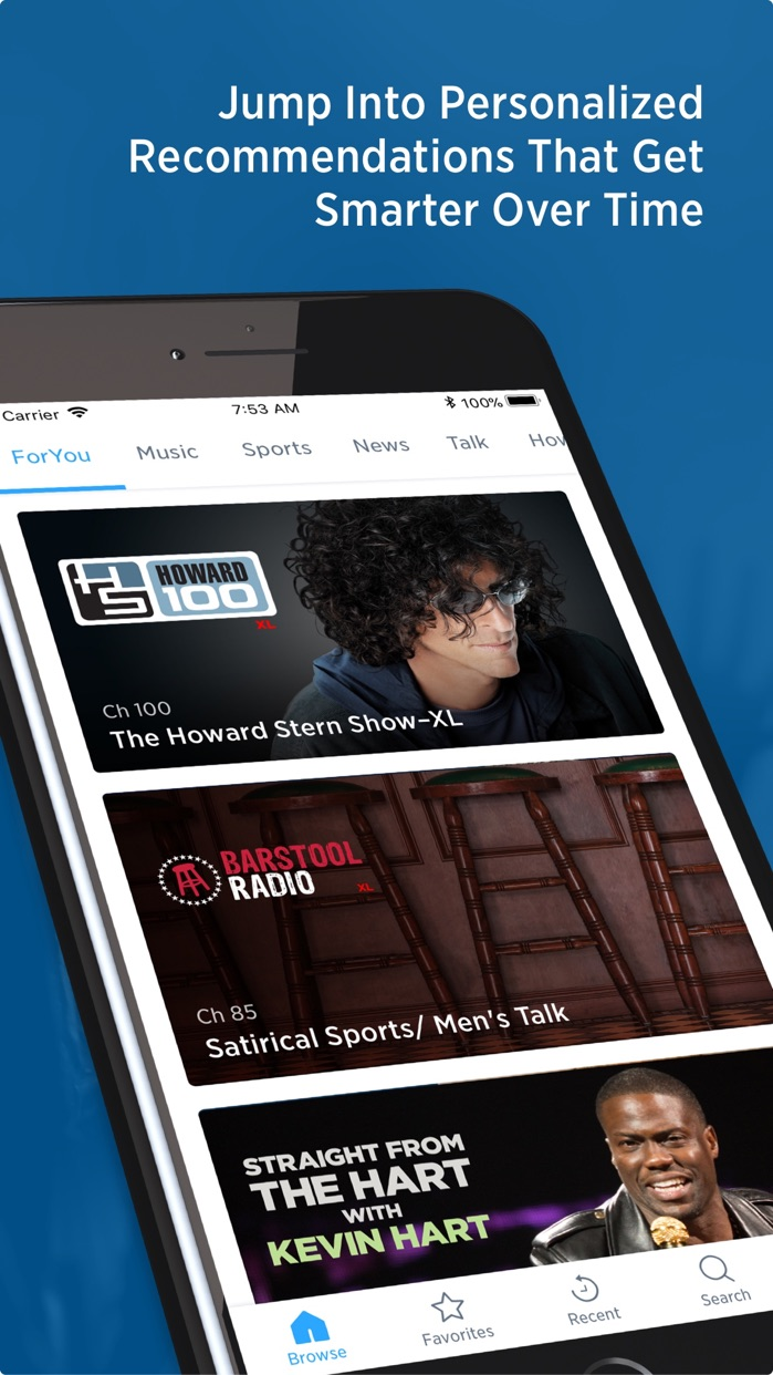 SiriusXM Radio Screenshot