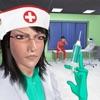 怖い看護師病院のいたずらアイコン