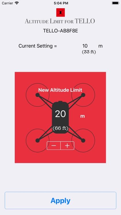 Altitude Limit for TELLO
