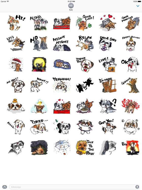 Yorkie And Shih Tzu Sticker screenshot 4