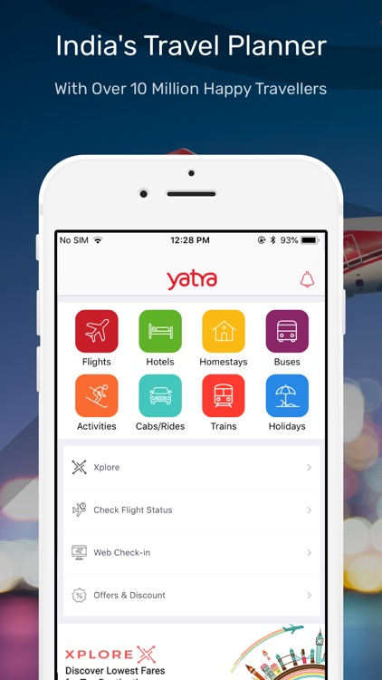 Yatra - Flights, Hotels & Cabs screenshot-0