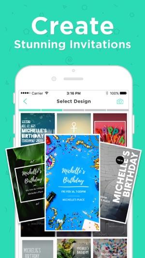 Hobnob invitation cards maker on the app store iphone ipad stopboris Gallery