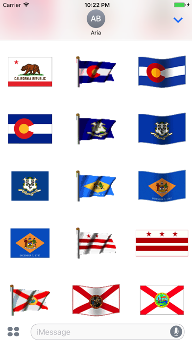 Animated Flags Of 50 US States screenshot two