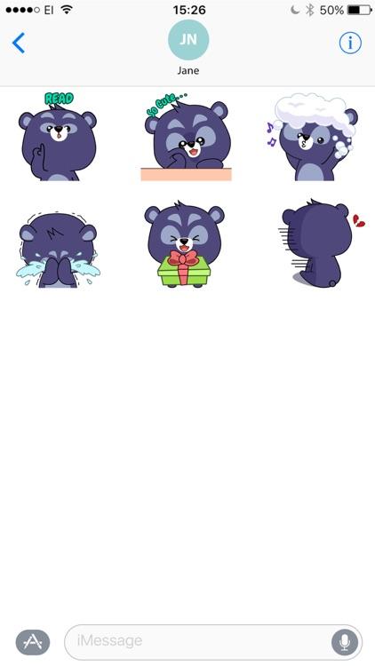 Black Bear Bao Bao Stickers screenshot-3