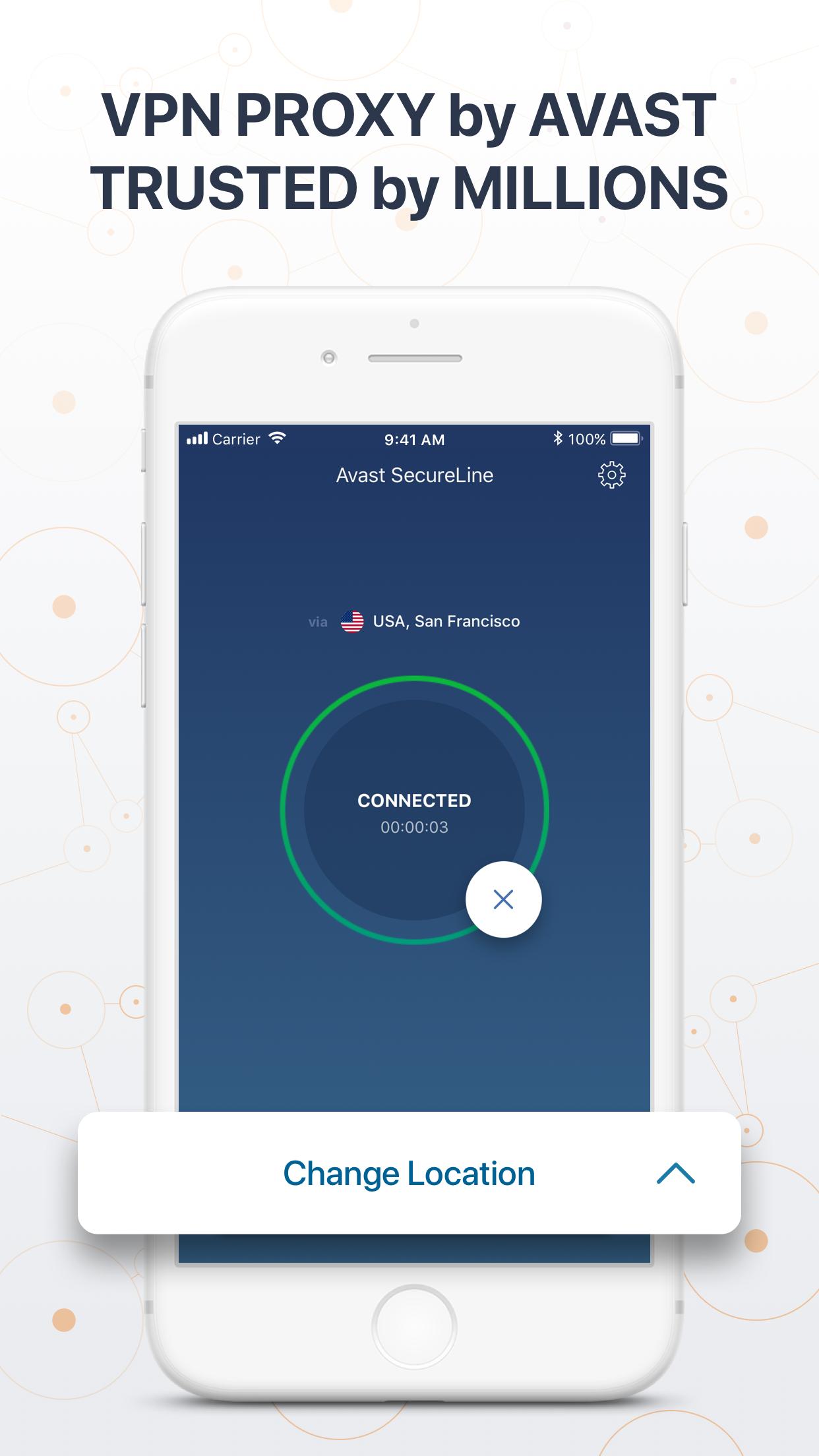 VPN Proxy - Avast SecureLine Screenshot
