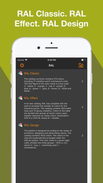 RAL colour chart. 3D fan deck Screenshots