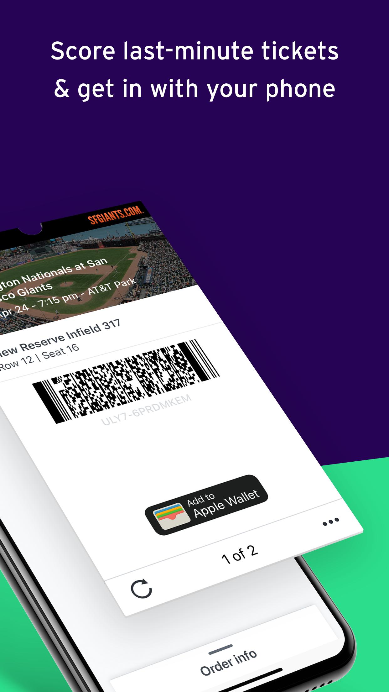 StubHub - Buy and Sell Tickets Screenshot