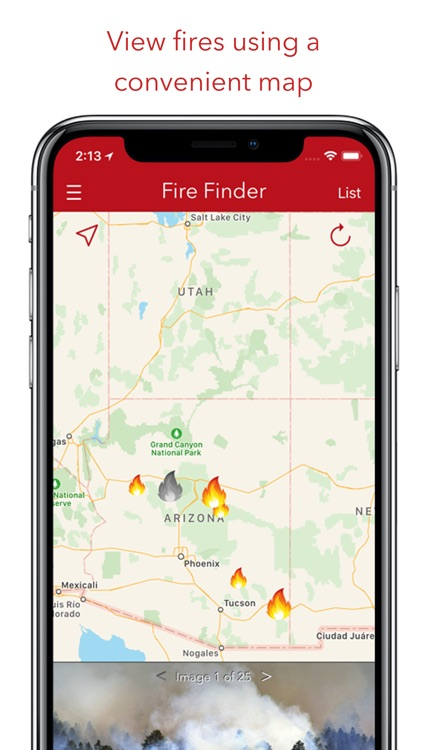 Fire Finder - Wildfire Info screenshot-0