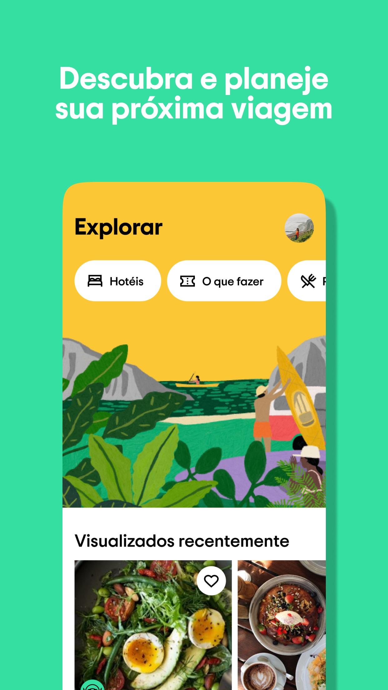 Screenshot do app Tripadvisor: planeje viagens