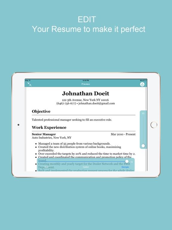 Resume Builder - CV Designer | App Price Drops