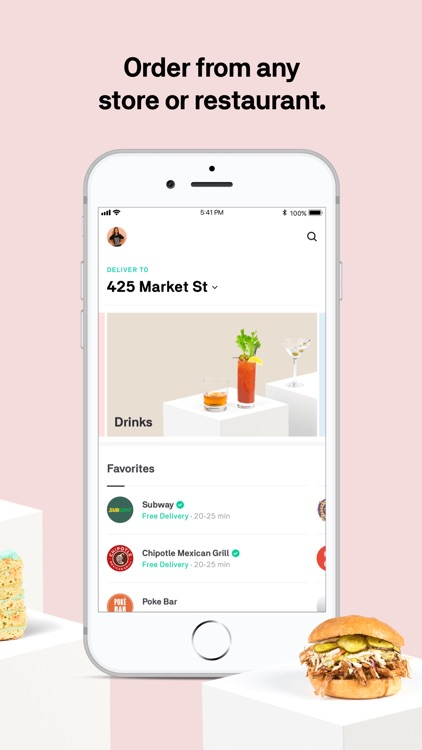 Postmates - Food Delivery screenshot-1