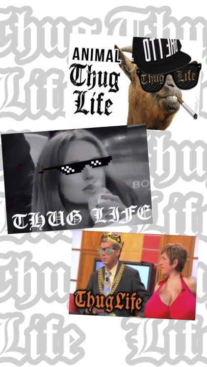 Thug Life photo sticker screenshot-5