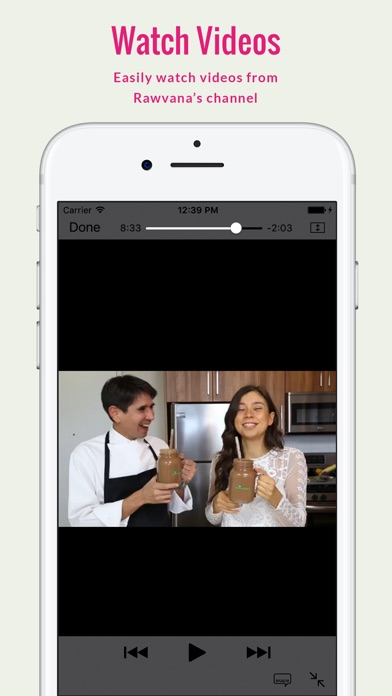 Screenshot for Rawvana's Raw Recipes in Israel App Store