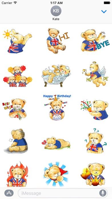 Classic English Teddy Sticker screenshot 2