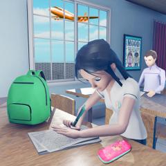 virtuell Hoch Schule Mädchen S