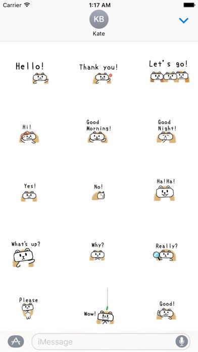 Animated Cute Hedgehog Sticker screenshot 1