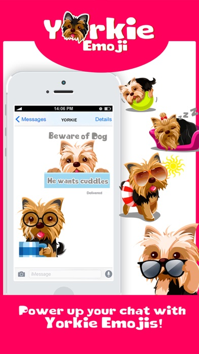 Yorkie Dog Emoji Stickers screenshot three