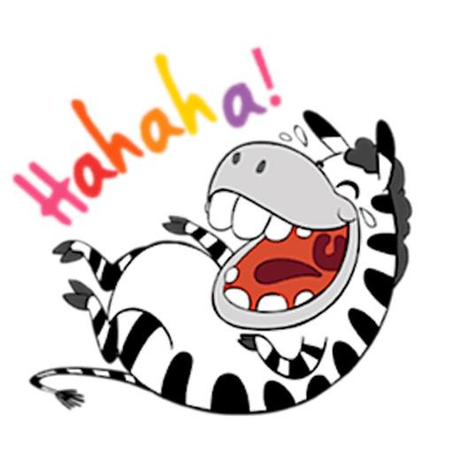 Funny Zebra Zebramoji Sticker
