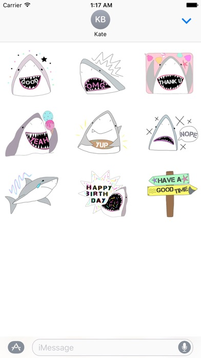 Funny Shark SharkMoji Sticker screenshot 2
