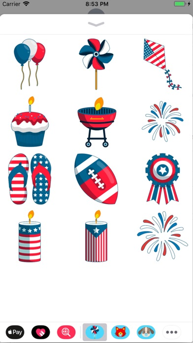 Animated July Fourth Stickers screenshot 1