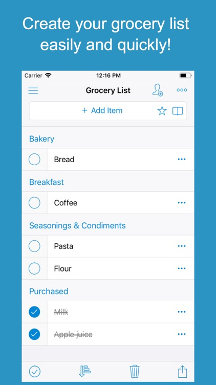 Shoppylist (Grocery List)