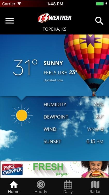 WIBW 13 Weather app