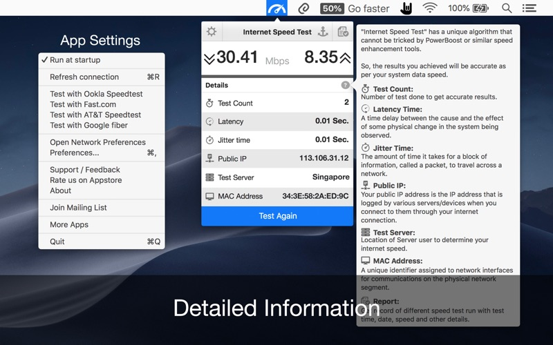 Internet Speed Test App DMG Cracked for Mac Free Download