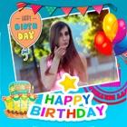ハッピー お誕生日 写真 フレーム 作成する カード icon