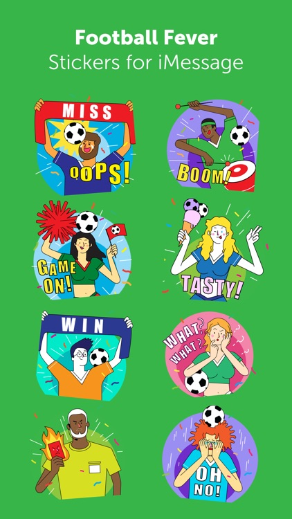 Footbal Fever Stickers