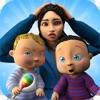 双子の新生児保育ゲームアイコン