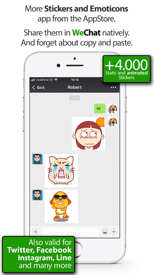 Stickers for WeChat App 截图
