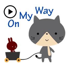 Animated Sentiment Cat Sticker