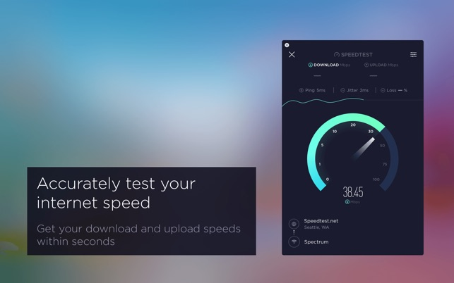 Speedtest by Ookla on the Mac App Store